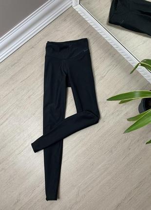 Nike найк лосины штаны легинсы чёрные оригинал фитнес спорт