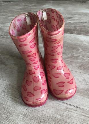 Резиновые сапожки, розовые, 14,5 см