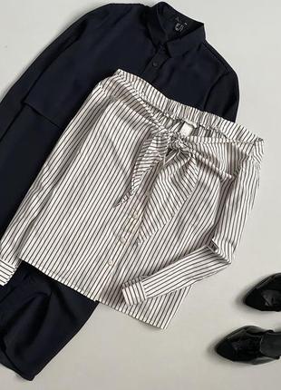 Крутая хлопковая блуза / рубашка h&m