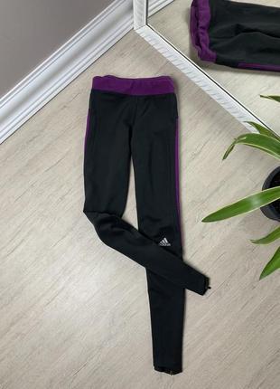 Adidas адидас лосины штаны легинсы чёрные оригинал фитнес спорт