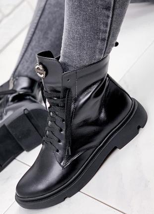 Ботинки женские pascale черные деми: натуральная кожа