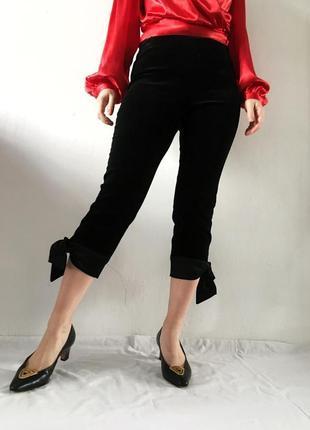 Tara jarmon люкс бархатные брюки с бантом, стиль max mara celine sandro valentino ysl