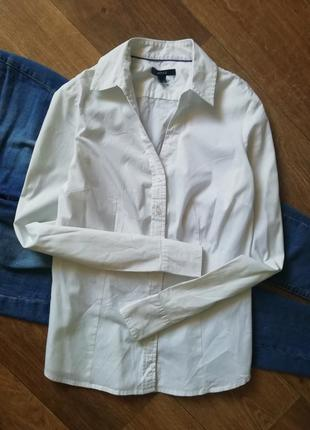 Mexx белая базовая рубашка, сорочка, блузка