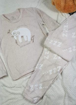 Женская флисовая, тёплая, зимняя пижама, жіноча, флісова, тепла піжама primark