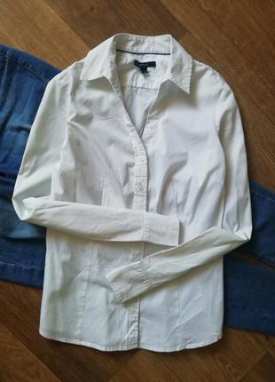Базовая белая рубашка, сорочка, блузка