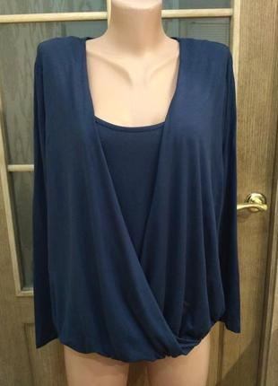 Bonprix. свободная блузка, трикотажная кофта из вискозы