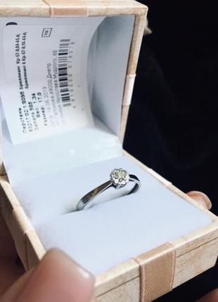 Срочно! золотое кольцо с бриллиантами (белое золото)