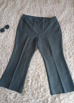 Женские классические брюки  темно серые