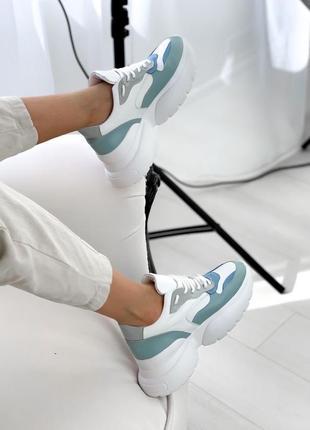 Стильные кроссовки натуральная кожа