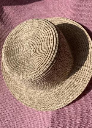 Шляпа-канотье соломенная