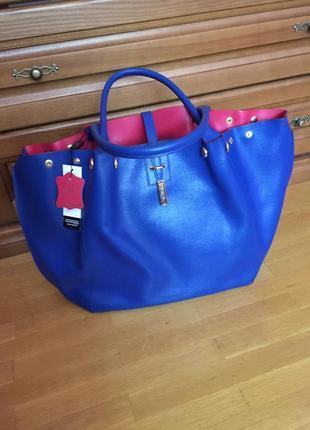Фирменная сумка di gregorio кожа сафьяно 2 сумки в 1 италия оригинал