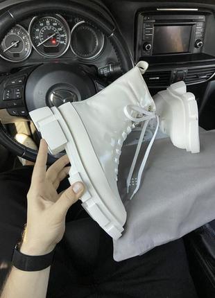 Женские шикарные ботинки both x lost general white / сапоги из натуральной кожи