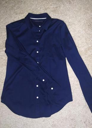 Красивая классическая рубашка блуза от marks&spenser