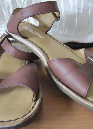 Босоножки кожаные коричневые кларкс clarks 25,5 см2