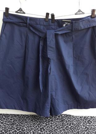 Шикарные шорты с поясом стрейч котон/лиоцелл