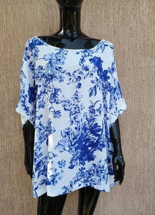 Новая красивая вискозная блуза большого размера marks&spencer