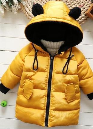 Куртка парка с капюшоном демисезон удлиненная
