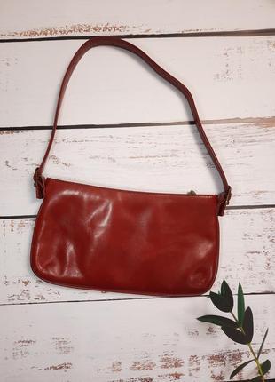 Salamander красная сумочка из натуральной кожи