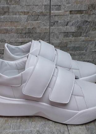 Белые маквины, кожаные белые кеды, женские кожаные кеды 36-40