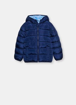 Стеганая деми куртка 134р. польша курточка с капюшоном