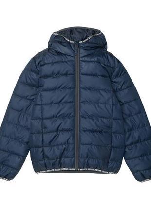 Стеганая деми куртка 128,134-140р. германия, курточка с капюшоном