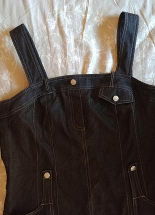 Классный сарафан под джинс 50-52 отлично с водолазкой, регланом