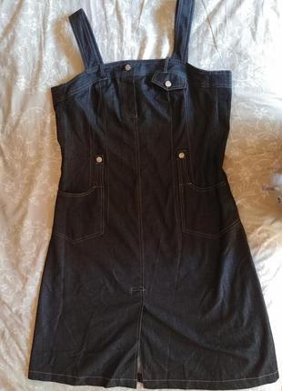 Классный сарафан под джинс 50-52 отлично с футболкой, водолазкой, регланом