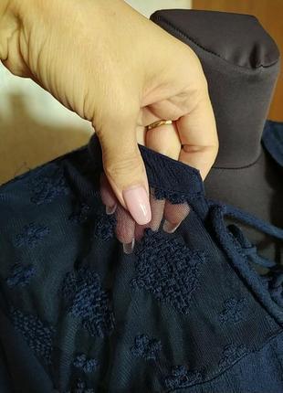 Блузон блузка вышиванка peacocks
