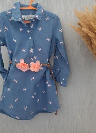 Платье рубашка 2-3 года