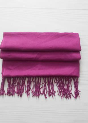 Широкий длинный кашемировый шарф палантин с шелком  🌺