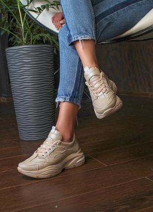Кожаные кроссовки на осень, с 36 по 41 размер