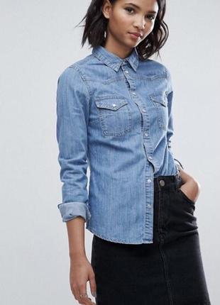 Джинсовка рубашка блуза джинсовая джинс