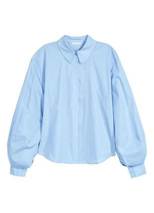 Крутая рубашка h&m с объемными рукавами