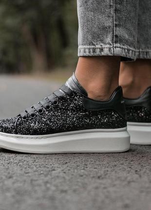 Шикарные женские кроссовки alexander mcqueen luxury 36 37 38 39 40