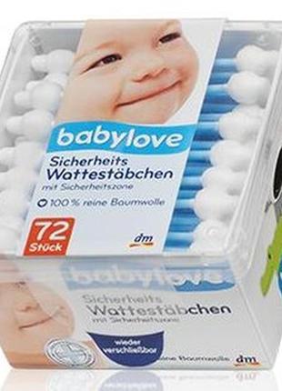 Дитячі вушні палички babylove sicherheits-wattestäbchen 72шт.