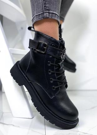 Новые женские кожаные зимние ботинки