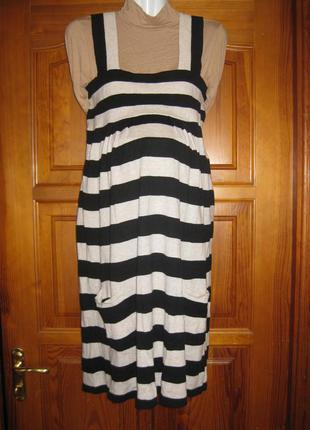 Сарафан трикотажный платье туника для беременных