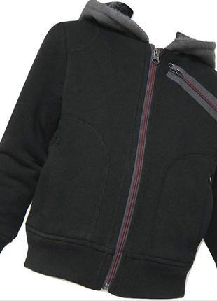 Меховушка куртка с капюшоном на флисовой подкладке  от bc clothing