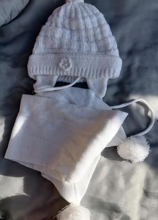 Комплект, шапка зима, и шарф