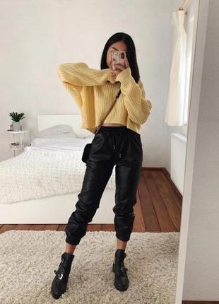 Крутые штаны брюки джоггеры экокожа 42-44, 44-46