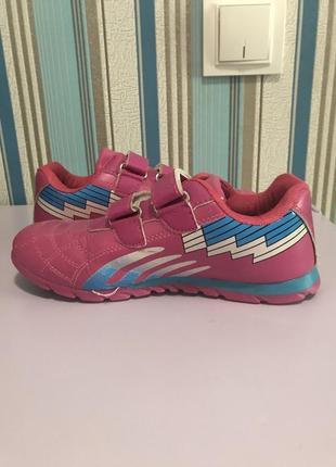 Кроссовки для девочки, розовые, 33 размер