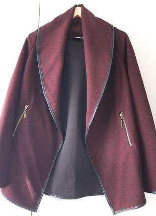 Удлиненный жакет-пальто на запах