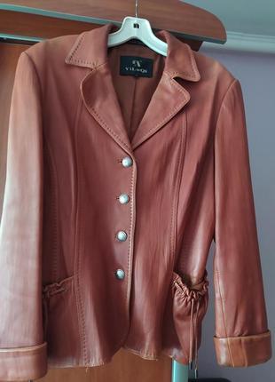 Женская кожаная куртка, пиджак, кожанка