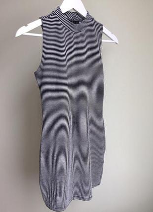 Платье в рубчик h&m