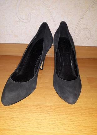 Туфли лодочки vera pelle, замшевые туфли, лодочки на шпильке, туфлі италия