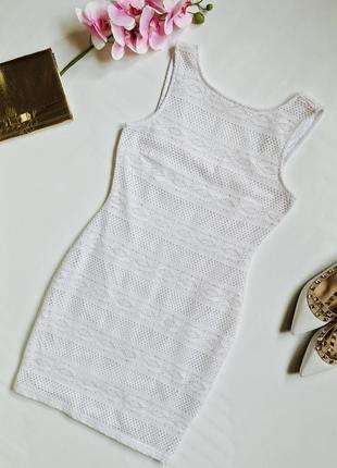 Шикарное белое кружевное платье ann christine
