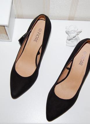 Туфли лодочки черные 38 р