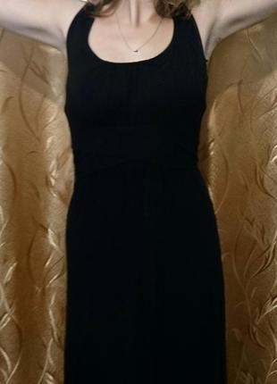 Продам длинное черное платье new look maternity