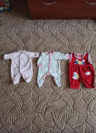 Человечки, слипы на новорожденную девочку