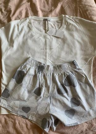 Новая пижама oysho футболка шорты